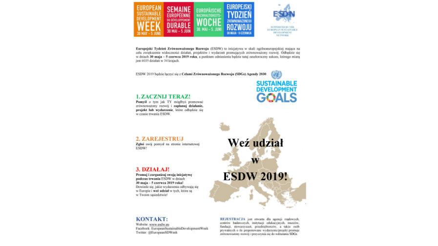 Europejski Tydzień Zrównoważonego Rozwoju (ESDW)
