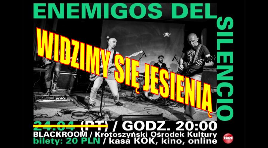 Koncert zespołu Enemigos Del Silencio przeniesiony na jesień